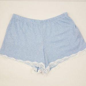 Carole Hochman NWT Blue Lace Trim PJ Shorts XS